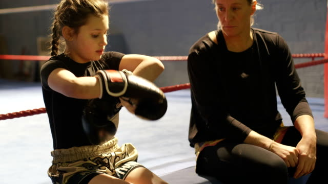 preparing to spar - boxing sport stock videos and b-roll footage