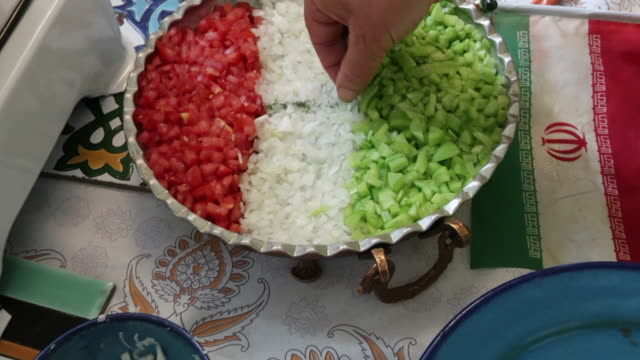 preparing traditional iranian meal - iran stock videos & royalty-free footage