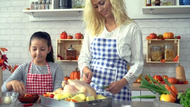 Preparing Turkey for Thanksgiving Dinner