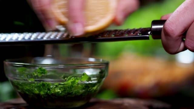 preparing vegan lentil salad - freshness stock videos & royalty-free footage