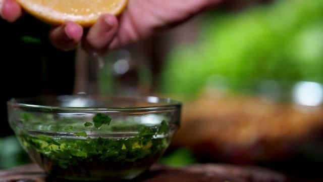 preparing vegan lentil salad - vinegar stock videos & royalty-free footage