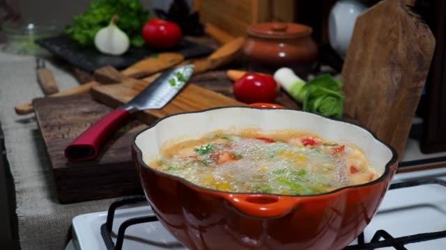 preparing vegetarian soup - parsley stock videos and b-roll footage