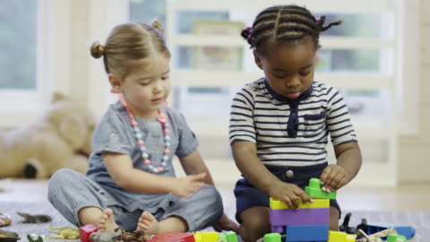 preschool daycare centre with children - toddler stock videos & royalty-free footage