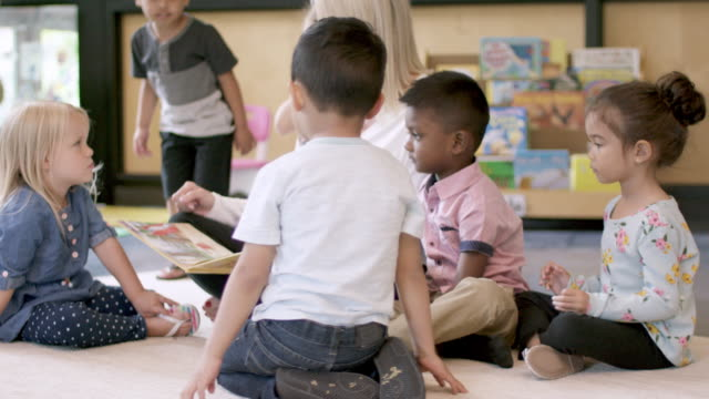 preschool students in daycare - child care stock videos & royalty-free footage