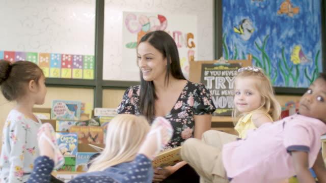 preschool students in daycare - preschool stock videos & royalty-free footage