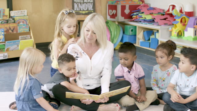 preschool students in daycare - rug stock videos & royalty-free footage