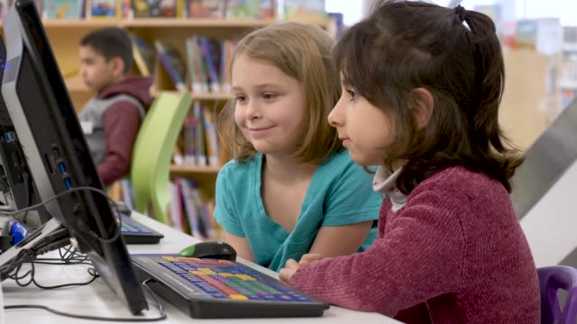 preschoolers learning how to use a computer - fatcamera stock videos & royalty-free footage