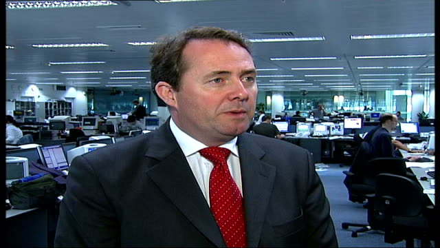 Prescott comments on Blair's future ITN London INT Liam Fox MP interview SOT we have weakened PM who's been there for over six years with ambitious...