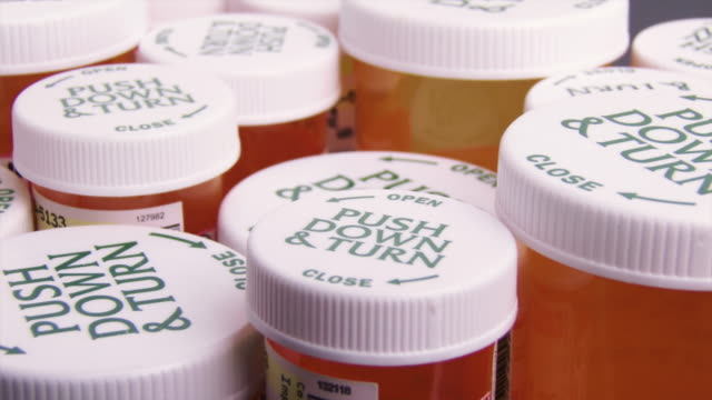 prescription bottles - pill bottle stock videos & royalty-free footage