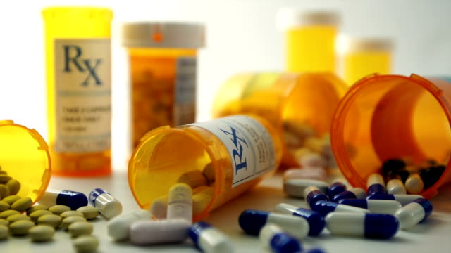 prescription pills - bottle stock videos & royalty-free footage