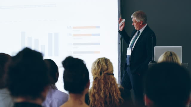 presentation skills that make an impact - business conference stock videos & royalty-free footage