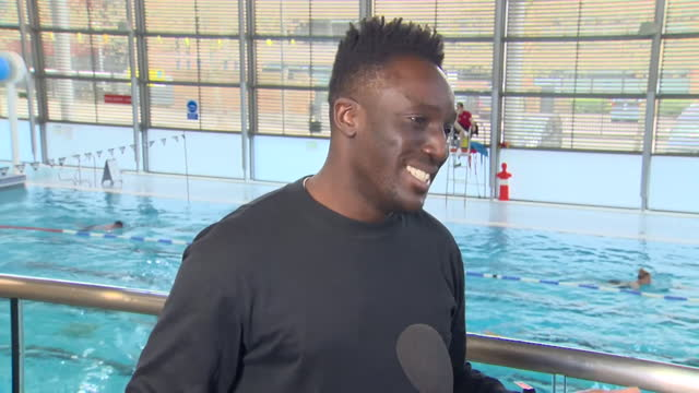 """presenter and swimmer ayo akinwolere saying he """"wants to see britain swimming"""" after coronavirus lockdown restrictions are eased - healthy lifestyle stock videos & royalty-free footage"""