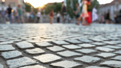 preseren square, ljubljana - cobblestone stock videos & royalty-free footage