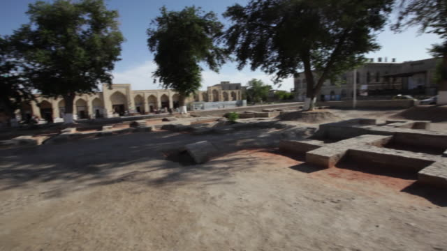 preserved ruins in the ancient city of bukhara, uzbekistan - bukhara stock videos and b-roll footage