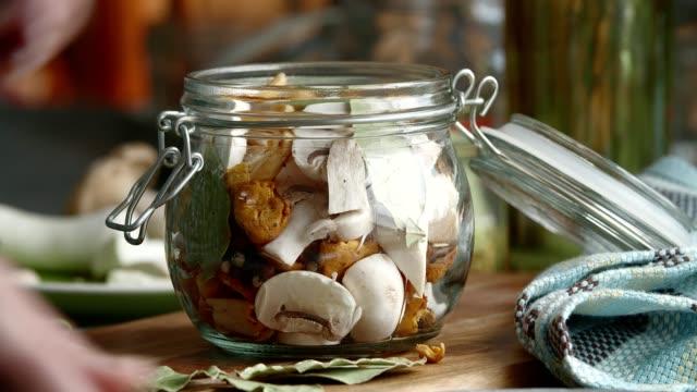 Preserving Organic Mushrooms in Jars