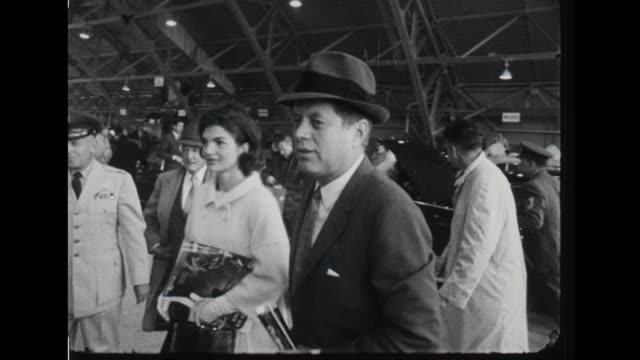 president and mrs kennedy boarding plane board air force one airplane at airport - 1960 stock videos & royalty-free footage