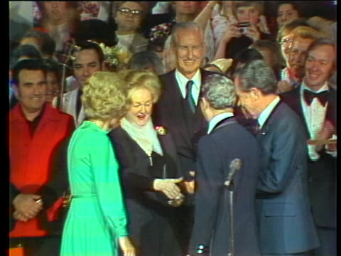 president and mrs. richard nixon visit the grand ole opry in 1974. - music or celebrities or fashion or film industry or film premiere or youth culture or novelty item or vacations stock videos & royalty-free footage