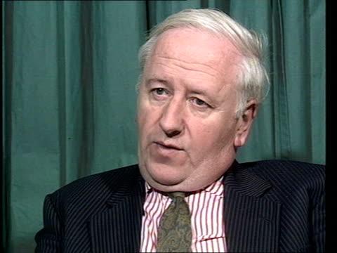 president announces abrogation of ceasefire; england london cms hugh o'shaughnessey intvw sof - ニカラグア点の映像素材/bロール