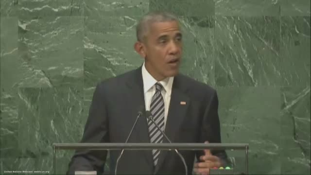 president barack obama addresses the 71st session of the united nations general assembly at un headquarters, september 20, 2016 in new york city. - united nations stock videos & royalty-free footage