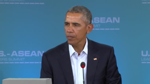 president barack obama and laos president choummaly sayasone speak at the plenary session of united states-association of southeast asian nations... - rancho mirage stock videos & royalty-free footage