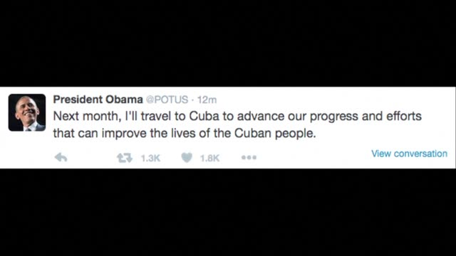 stockvideo's en b-roll-footage met president barack obama announces that he and first lady michelle obama will make a landmark visit to cuba on march 21-22 pledging to address human... - van vorm veranderen