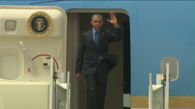 KTLA President Barack Obama Arrives At Lax on June 18 2015