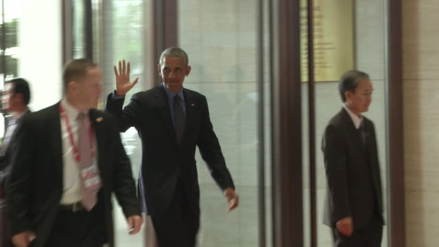 """president barack obama arrives at the association of southeast asian nations summit, obama attempted to exorcise some of these ghosts. """"given our... - association of southeast asian nations stock videos & royalty-free footage"""