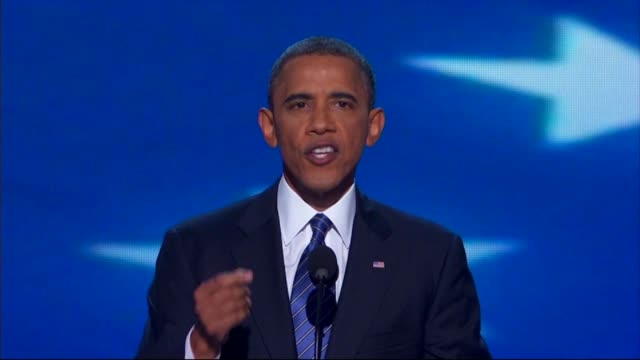 president barack obama asks america to support him at dnc on september 06 2012 in charlotte north carolina - 2012 stock videos and b-roll footage