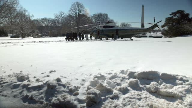 US President Barack Obama boards the Marine One prior to his departure from the White House Washington DC March 6 2015