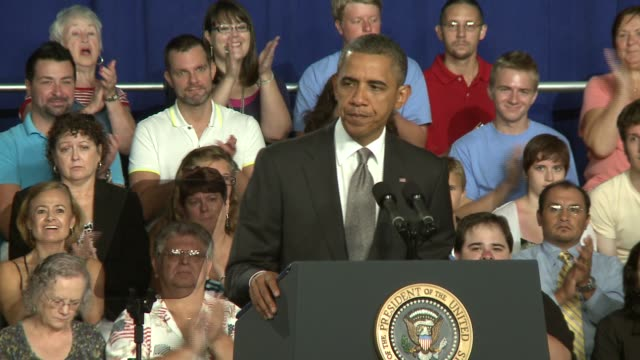 us president barack obama campaigns on july 20 2012 in ft myers florida - fort myer stock videos and b-roll footage