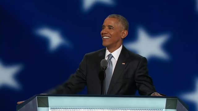 President Barack Obama discusses his accomplishments over the last 8 years at the convention telling delegates that 12 years ago he addressed the...