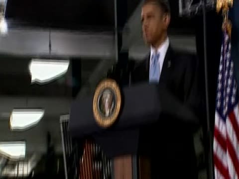 us president barack obama greets governor arnold schwarzenegger during press conference at the solyndra inc construction site california usa 26 may... - arnold schwarzenegger stock-videos und b-roll-filmmaterial
