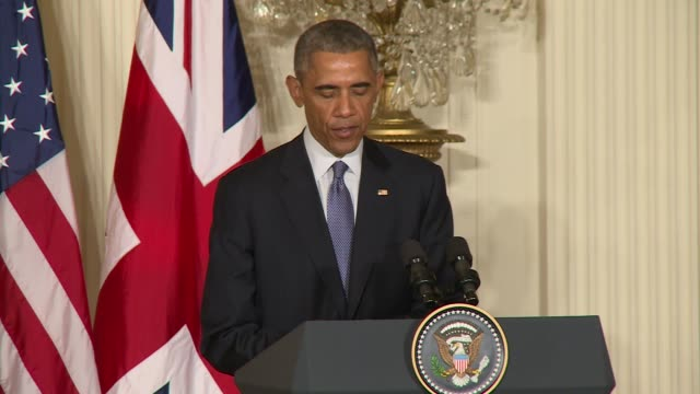 US President Barack Obama hosts British Prime David Cameron comments on a laundry list of foreign policy issues including France following the...