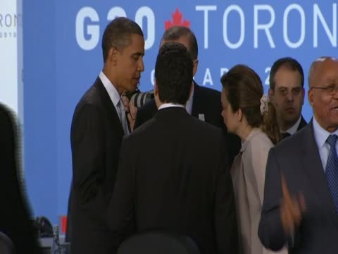 us president barack obama meets other world leaders for g20 summit talks - g20 leaders' summit stock videos & royalty-free footage