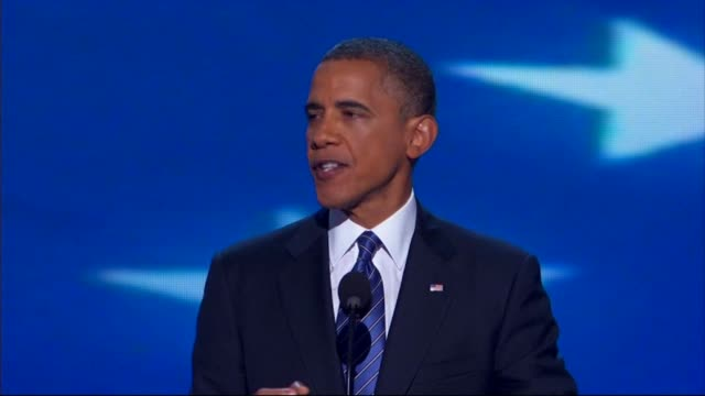 wgn president barack obama officially announces he is running for second presidential term on september 06 2012 in charlotte north carolina - 政治集会点の映像素材/bロール