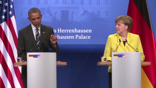 US President Barack Obama praised the German people for their stance on the refugee crisis saying German Chancelor Angela Merkel was on the right...