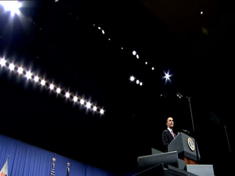 President Barack Obama puts forward new strategy for Afghanistan during speech addressed to US cadets at West Point Military Academy New York 1...
