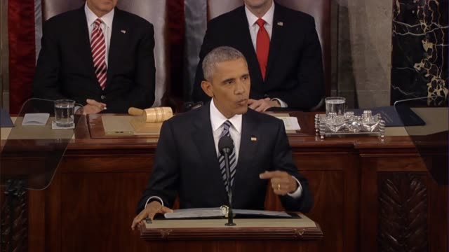 president barack obama says in his final state of the union address says foreign policy must be focused on isil and al qaeda but instability would... - isil conflict stock videos & royalty-free footage