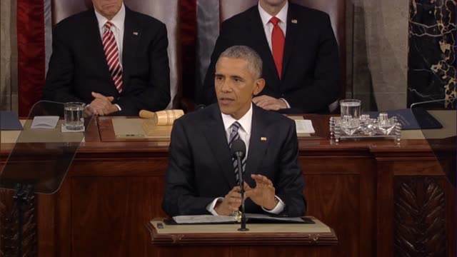 president barack obama says in his final state of the union address medical research is critical clean energy resources are needed and anyone who... - climate research stock videos & royalty-free footage