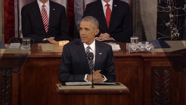 president barack obama says in his final state of the union address that many corporate citizens are the most creative, asking how to reignite the... - sputnik stock videos & royalty-free footage