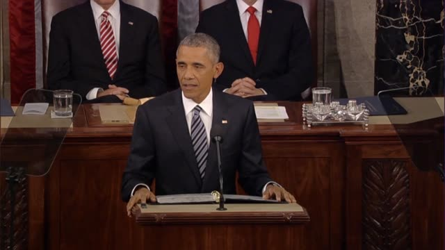 president barack obama says in his final state of the union address says that after years of record corporate profits working families had no more... - food stamps stock videos & royalty-free footage