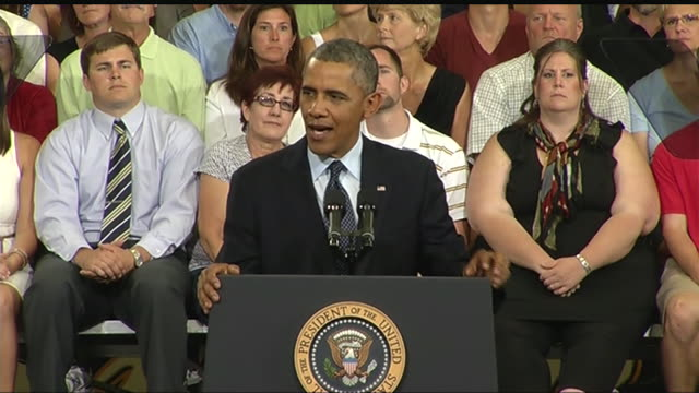 president barack obama says that he will not be deterred from accomplishing his economic agenda by an uncooperative congress during a 2013 speech... - business or economy or employment and labor or financial market or finance or agriculture stock videos & royalty-free footage