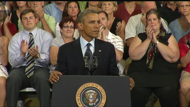 stockvideo's en b-roll-footage met president barack obama says that he will use any executive authority he has to help middle class during a 2013 speech about the economy and the... - business or economy or employment and labor or financial market or finance or agriculture