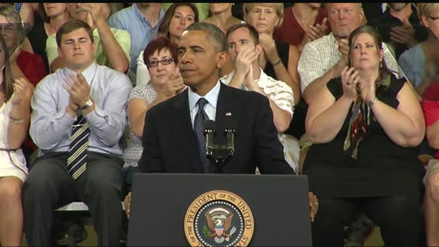 president barack obama says that it is crucial to make college affordable during a 2013 speech about the economy and the middle class. - business or economy or employment and labor or financial market or finance or agriculture stock videos & royalty-free footage