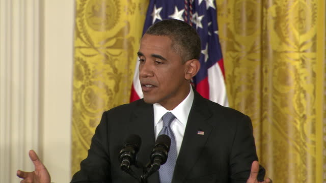 president barack obama says that the united states government has not actually abused authority in its collection of data for national security... - united states and (politics or government)点の映像素材/bロール