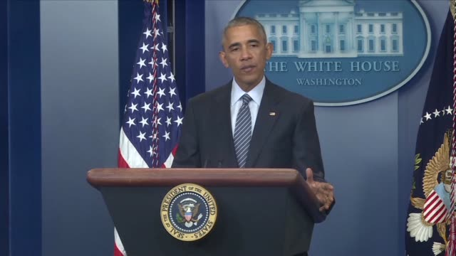 us president barack obama seeks to reassure washington's european allies that his imminent successor donald trump has reaffirmed his commitment to... - nachfolger stock-videos und b-roll-filmmaterial