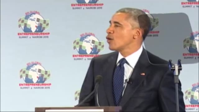 President Barack Obama speaks in a panel discussion with youthful enterpreneurs at the opening of the Global Enterpreneurship Summit on July 25 2015...