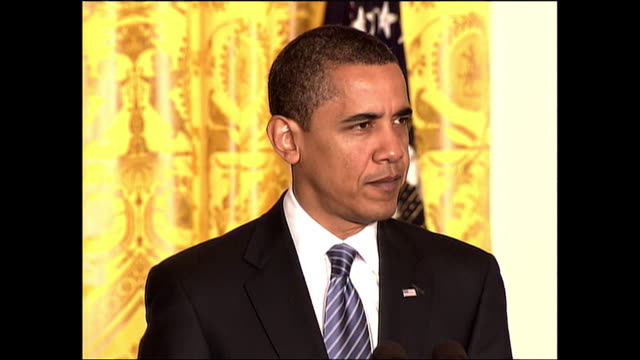 president barack obama speaks on the government investment in science and it's effect on global competition during his remarks at the signing of an... - stem cell stock videos & royalty-free footage