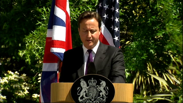 president barack obama state visit: day 2: obama and david cameron press conference; david cameron speech sot - our third action must be to help... - new age stock videos & royalty-free footage