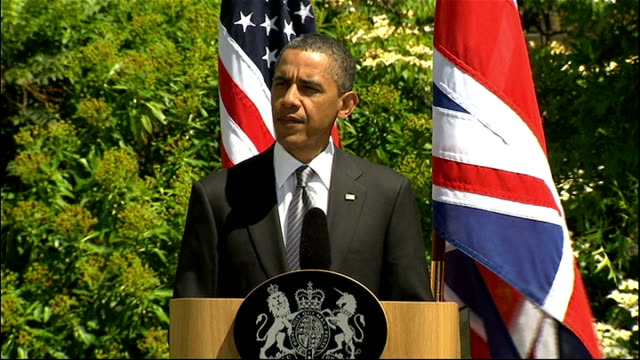 day 2 obama and david cameron press conference barack obama speech sot as historic change unfolds across the middle east and north africa we agree... - human joint stock videos & royalty-free footage